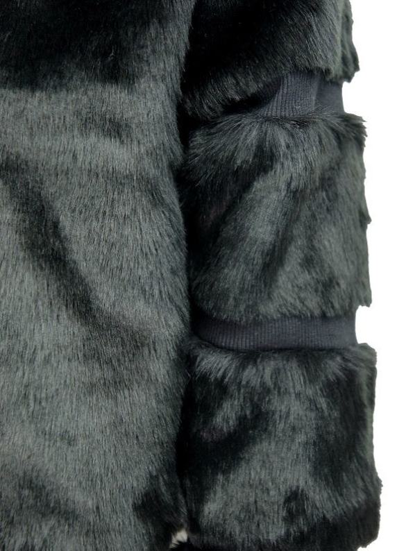 Mareth Colleen Faux Fur Moskow Jacket Black Detail