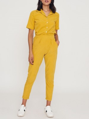 yellow top and yellow straight leg ladies pants South Africa