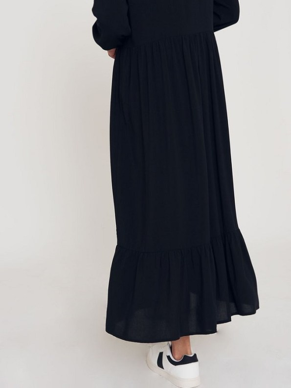 Good Clothing Tea Frill Dress Black Frill