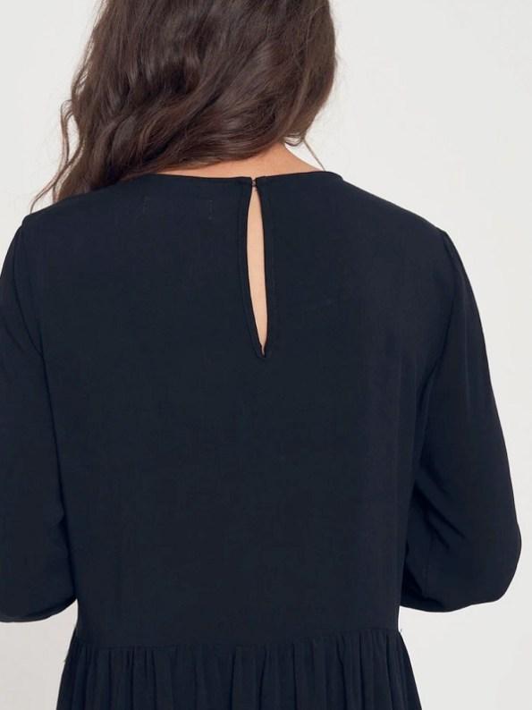 Good Clothing Tea Frill Dress Black Keyhole