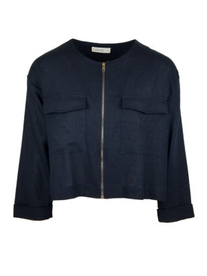 navy jacket from linen made in South Africa