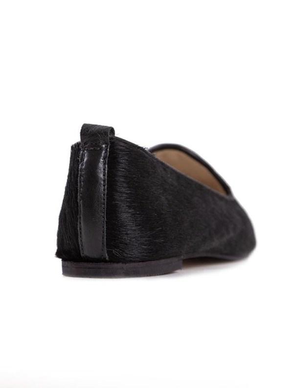 House of Cinnamon Nikki Claf Hair Loafer Black Back