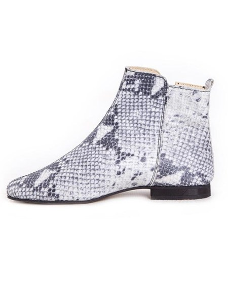 Ladies leather ankle boots python print from South Africa