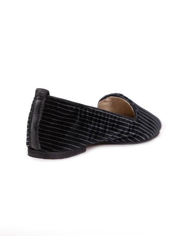 House of Cinnamon Sinead Velvet Loafers Pinstripe Back