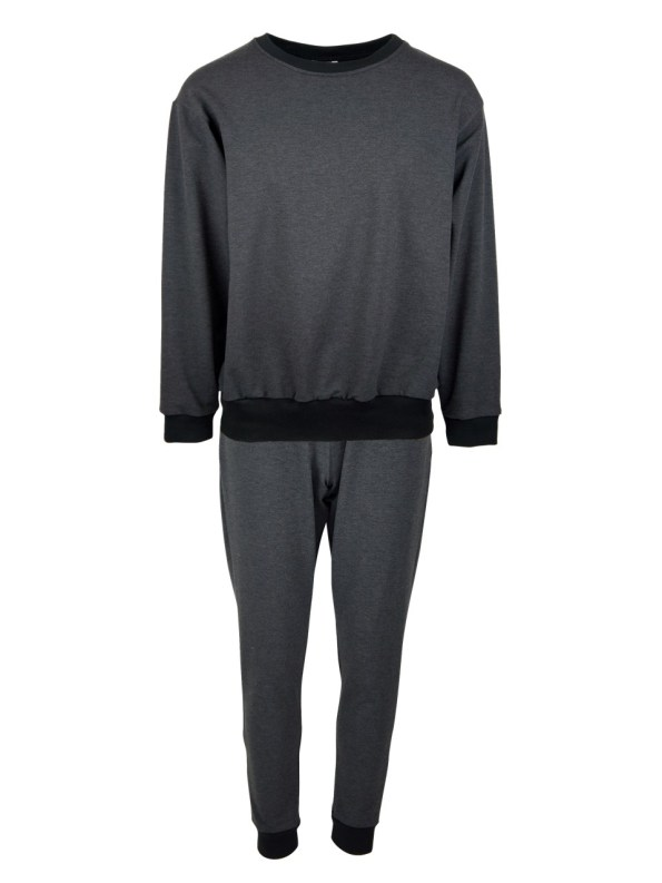 JMVB Athleisure Sweater and Sweatpants Set Charcoal