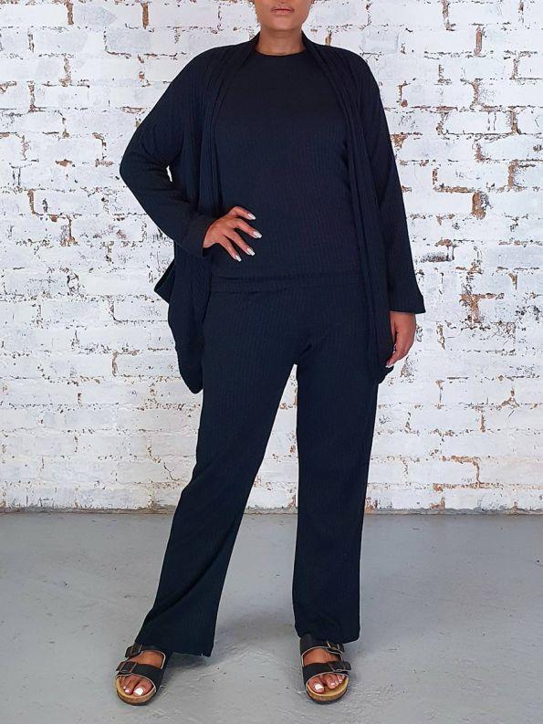 JMVB Lux Loungewear Set Black Front
