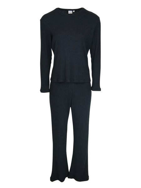 loungwear top and pants set black South Africa