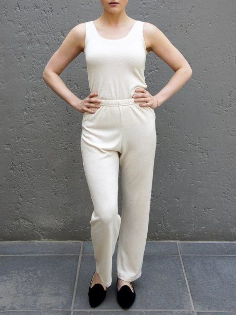 Beige lounge pants with tank top South Africa