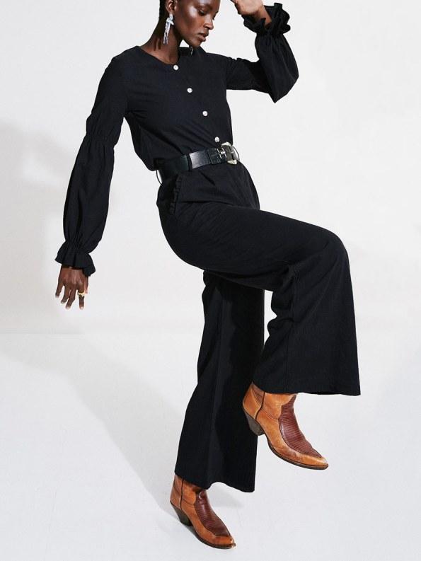 Asha Eleven Black High & Wide Pants 1