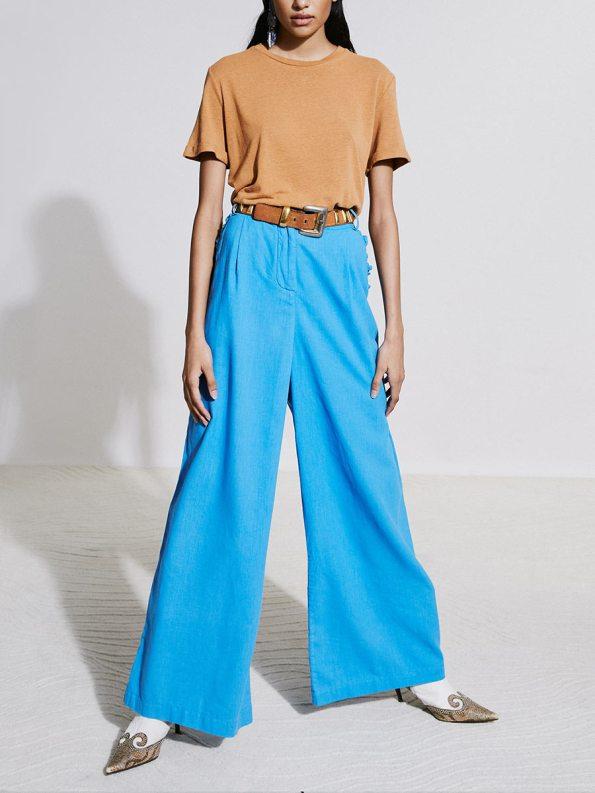 Asha Eleven Hemp T-shirt Chesa and HW Pants Cornflower 4