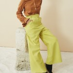 Asha Eleven High Waisted Wide Leg Linen Pants Lemon