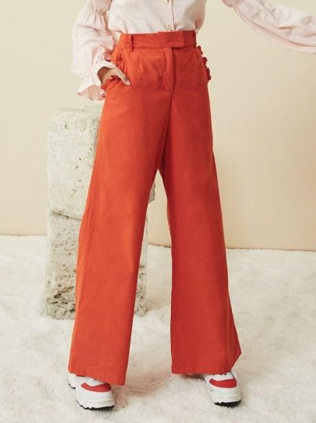 orange high waisted wide leg pants South Africa
