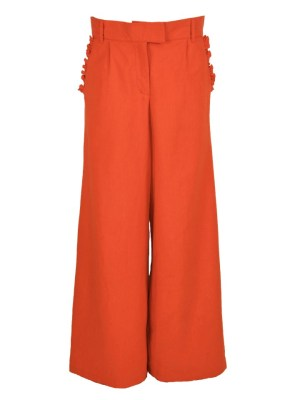 Orange Pants Wide Leg High Waisted Pants South Africa