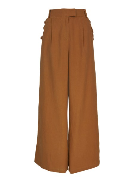 brown high waisted and wide leg pants for women South Africa