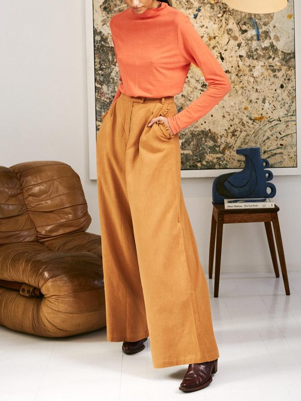 Asha Eleven High & Wide Pants Chesa with Happy Turtles Top 1