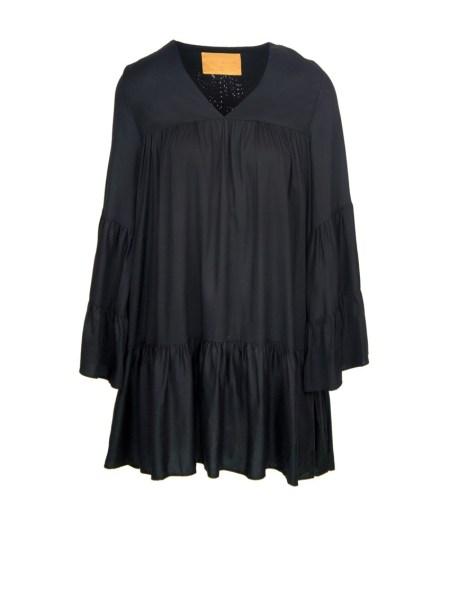 long sleeve short black dress Tencel South Africa