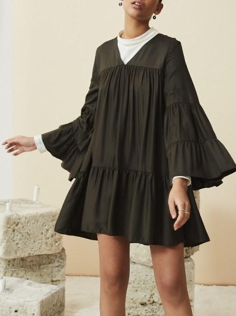 short dark green sustainable dress South Africa
