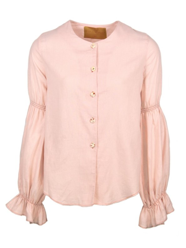 Asha Eleven Outlander Blouse Rose