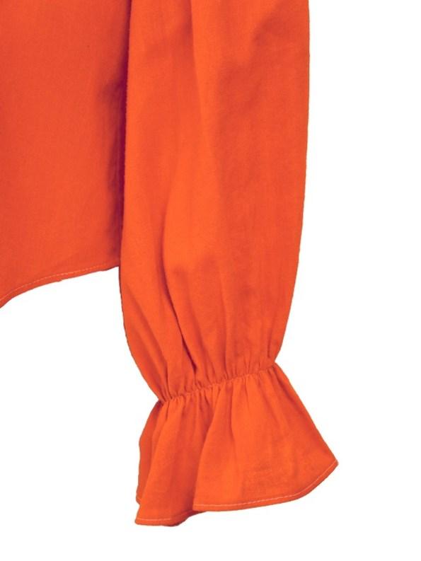 Asha Eleven Outlander Hemp Blouse Tangerine Sleeve