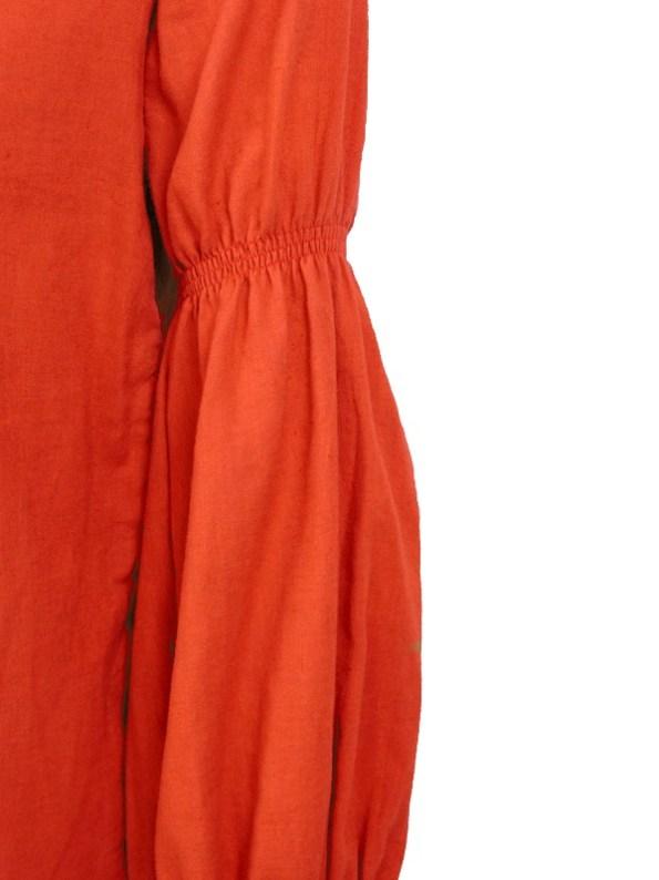 Asha Eleven Outlander Hemp Blouse Tangerine Upper Sleeve