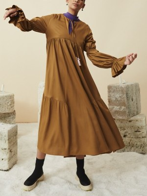 brown long dress empire line made in South Africa