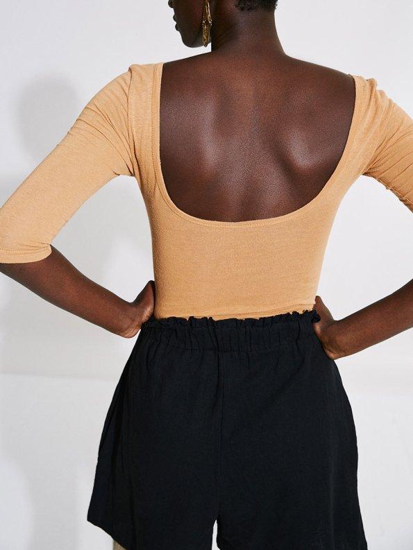 Asha Eleven Salama Shorts Black with Bodysuit 1