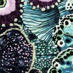 Embroidered Oceanum Azure Round Crossbody Bag Azure