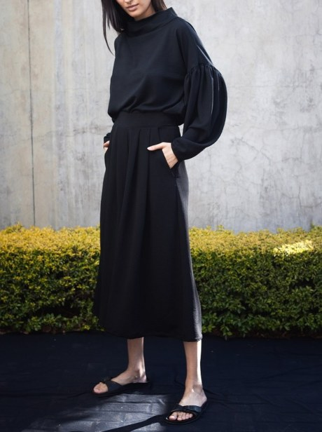 black culottes pants South Africa with black sweater top