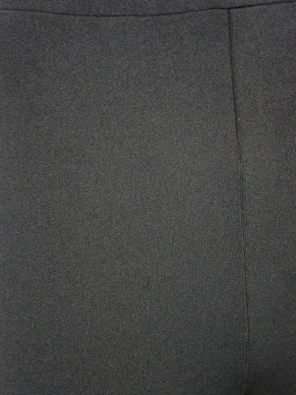 Erre High Waisted Slim Fit Pants Black Closeup