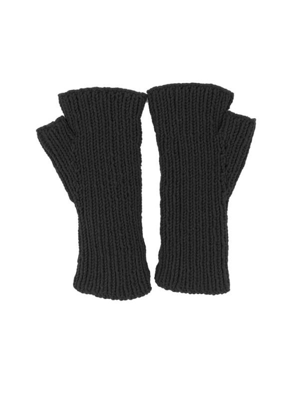 Erre Knitted Fingerless Gloves Black Back