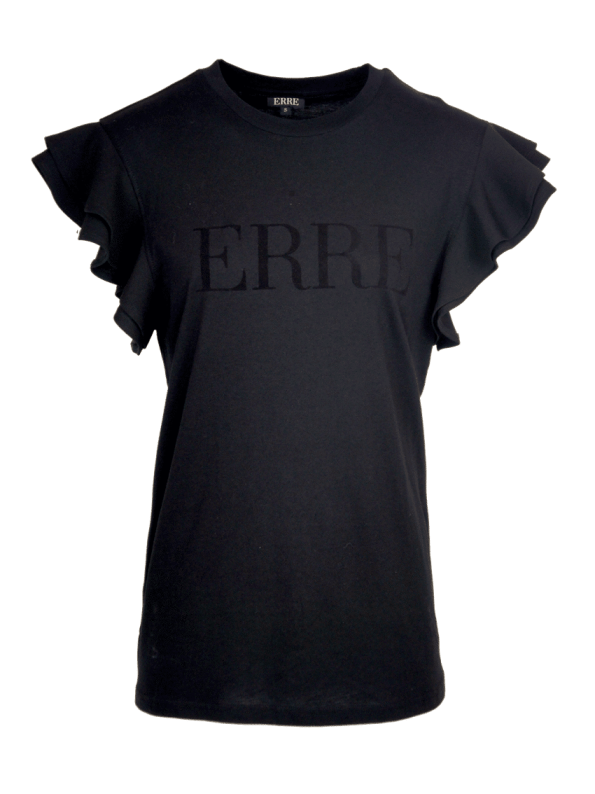 Erre Logo T-shirt Black