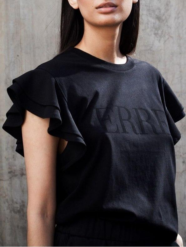 Erre logo T-shirt black Front