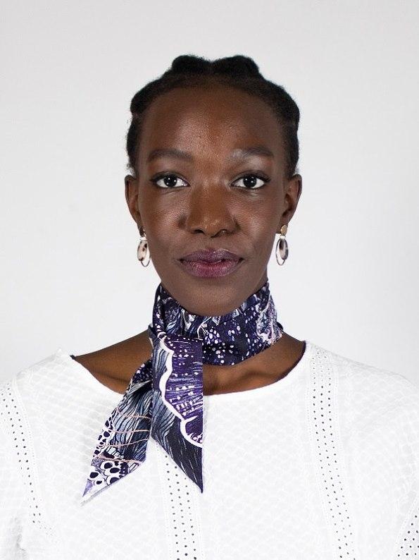 How to wear a silk Twilly Scarf Bow Oceanum Urchin Black Aureum
