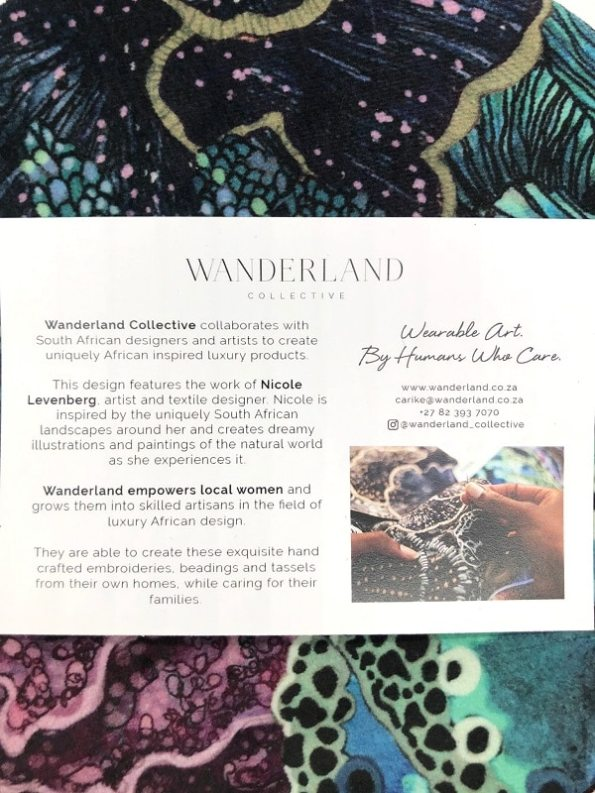 Oceanum Azure Round Velvet Bag Azure Card