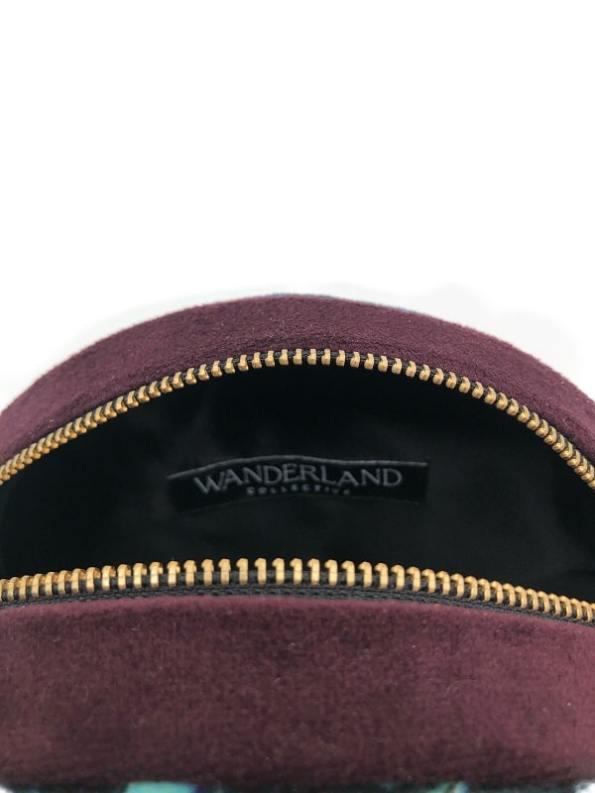 Oceanum Azure Round Velvet Bag Inside Label Azure