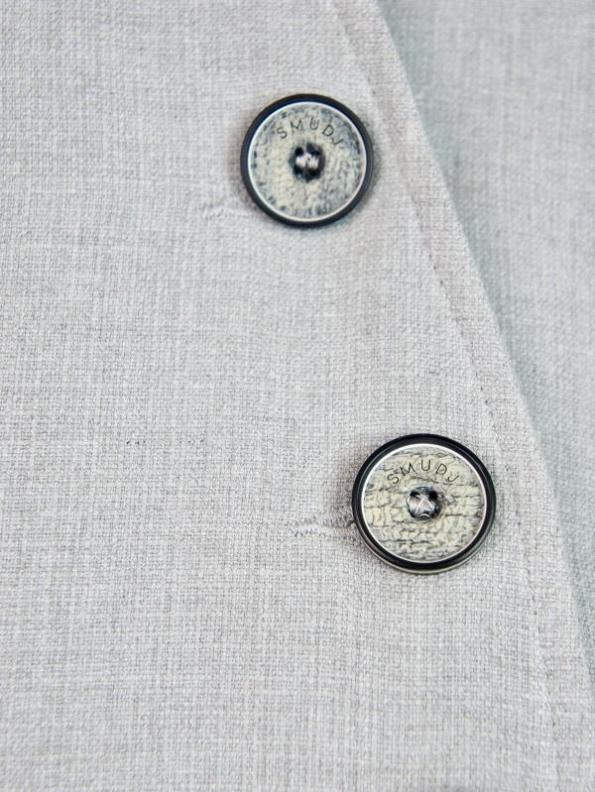 Smudj Margot Jacket Light Grey Buttons