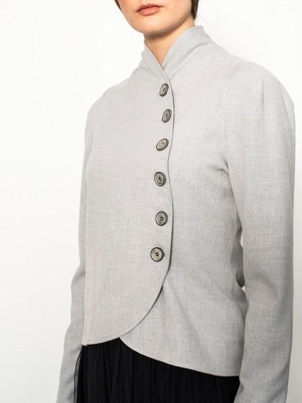 Smudj Margot Jacket Light Grey Side Detail