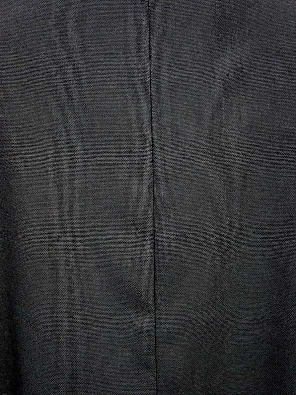 Mareth Colleen Camille Black Linen Dress Fabric