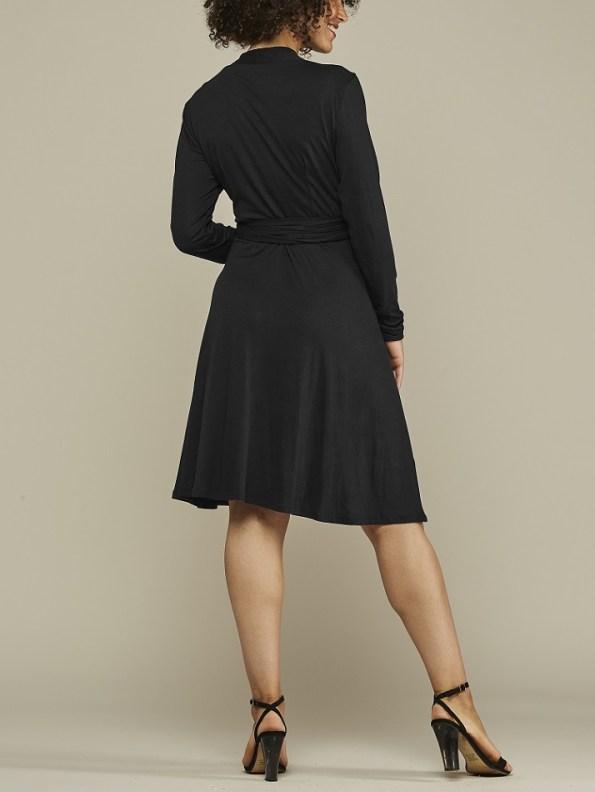 Mareth Colleen Hentry Wrap Dress Black Back