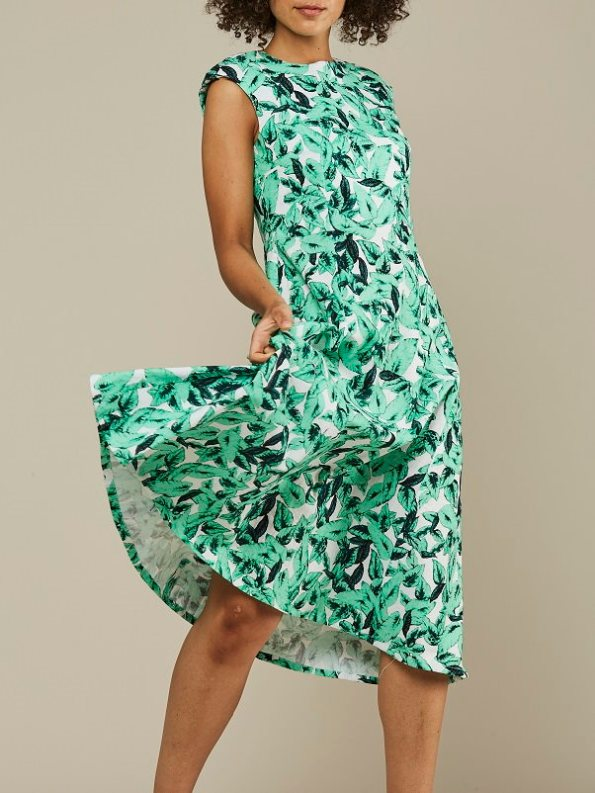 Mareth Colleen Jan Dress Basil Print Crop