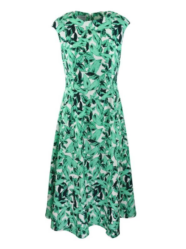 Mareth Colleen Jan Dress Basil Print