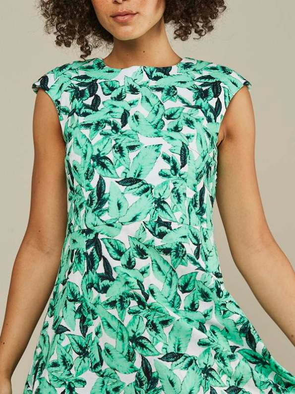 Mareth Colleen Jan Summer Dress Basil Print Bodice