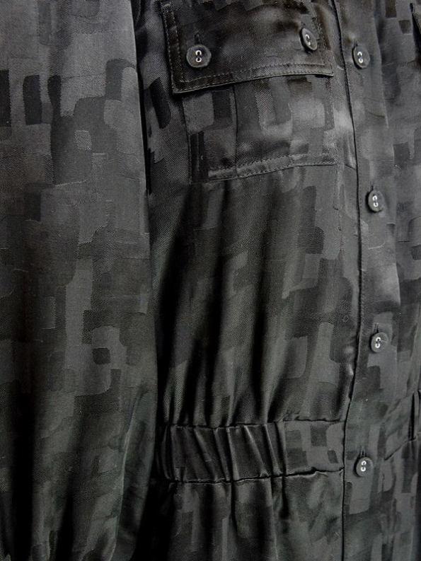 Smudj Aaron Utility Jumpsuit Black Camo Closeup