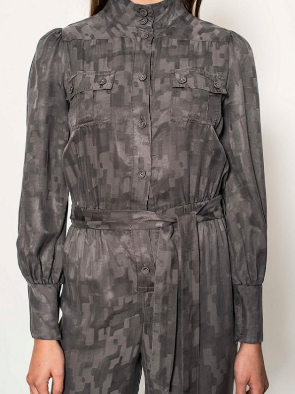 Smudj Aaron Utility Jumpsuit Slate Camo Front Cropped