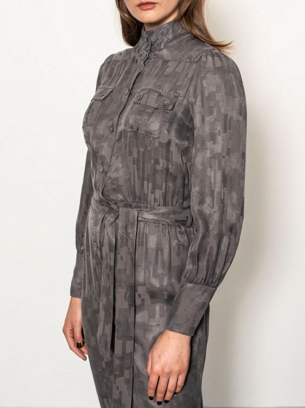 Smudj Aaron Utility Jumpsuit Slate Camo Side Cropped