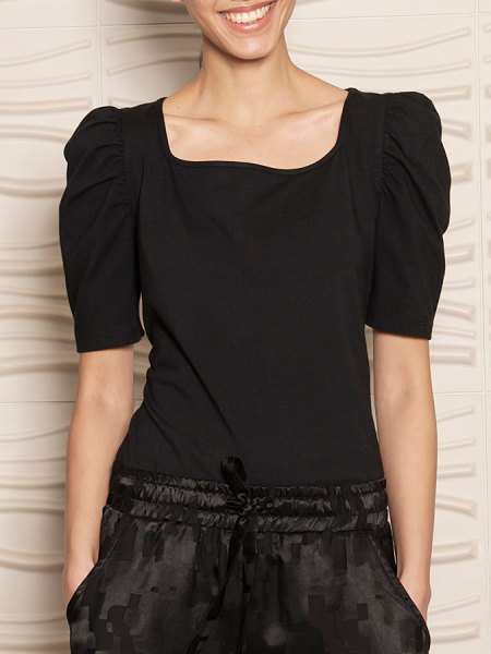 Black Puff Sleeve Top South Africa