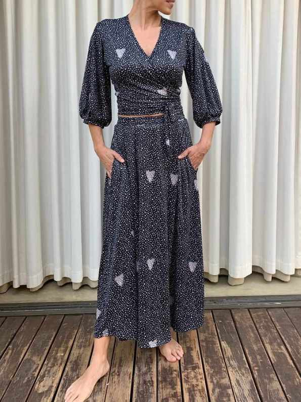 African Style Story 3-in-1 Maxi Dress Moth Print