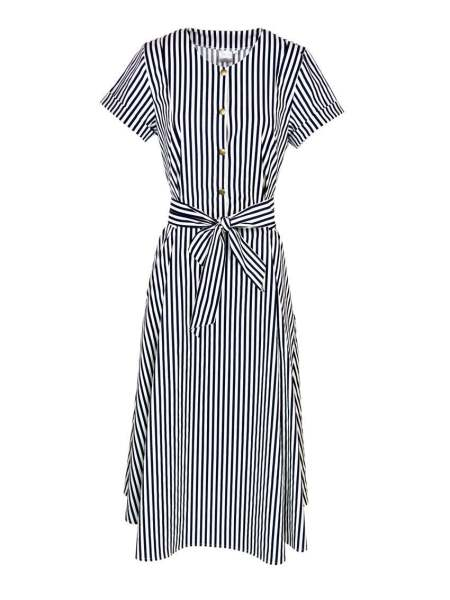Striped dress navy and white South Africa
