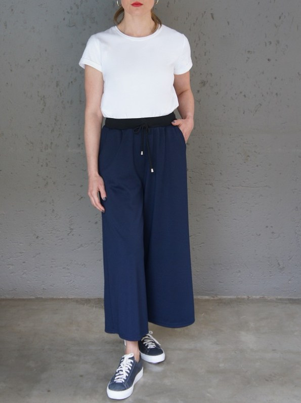 JMVB Athleisure Culottes Navy with Jimmy D T-shirt