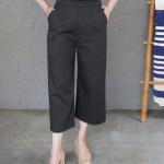 JMVB Cotton Twill Culottes Black